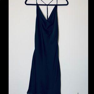 H&M Silk like strappy back dress Size 10